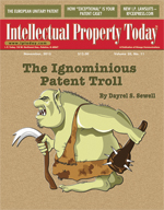 The Ignominious Patent Troll by Dayrel S. Sewell